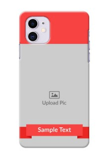Iphone 11 Personalised mobile covers: Simple Red Color Design
