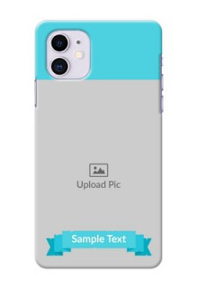 Iphone 11 Personalized Mobile Covers: Simple Blue Color Design