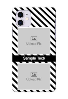 Iphone 11 Back Covers: Black And White Stripes Design