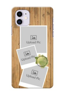 Iphone 11 Custom Mobile Phone Covers: Wooden Texture Design
