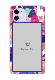 Iphone 11 Personalised Phone Cases: Abstract Floral Design