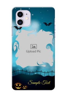 Iphone 11 Personalised Phone Cases: Halloween frame design