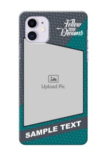 Iphone 11 Back Covers: Background Pattern Design with Quote