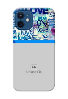 iPhone 12 Mini Mobile Covers Online: Colorful Love Design