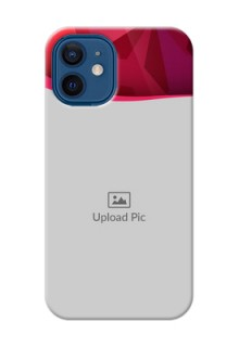 iPhone 12 Mini custom mobile back covers: Red Abstract Design