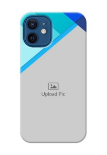 iPhone 12 Mini Phone Cases Online: Blue Abstract Cover Design