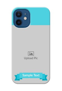 iPhone 12 Mini Personalized Mobile Covers: Simple Blue Color Design