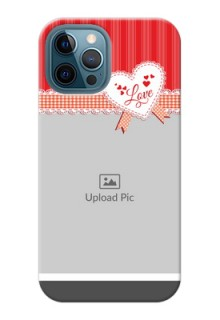 iPhone 12 Pro Max phone cases online: Red Love Pattern Design