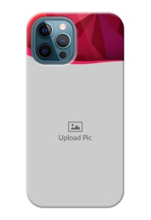 iPhone 12 Pro Max custom mobile back covers: Red Abstract Design