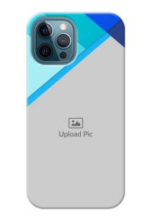 iPhone 12 Pro Max Phone Cases Online: Blue Abstract Cover Design
