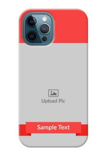 iPhone 12 Pro Max Personalised mobile covers: Simple Red Color Design