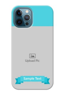 iPhone 12 Pro Max Personalized Mobile Covers: Simple Blue Color Design