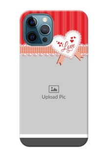 iPhone 12 Pro phone cases online: Red Love Pattern Design