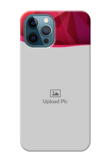iPhone 12 Pro custom mobile back covers: Red Abstract Design