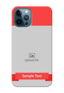 iPhone 12 Pro Personalised mobile covers: Simple Red Color Design