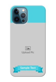 iPhone 12 Pro Personalized Mobile Covers: Simple Blue Color Design