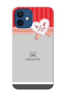 iPhone 12 phone cases online: Red Love Pattern Design