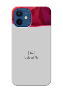 iPhone 12 custom mobile back covers: Red Abstract Design