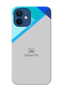 iPhone 12 Phone Cases Online: Blue Abstract Cover Design