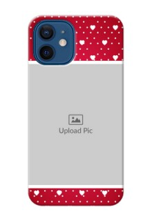 iPhone 12 custom back covers: Hearts Mobile Case Design