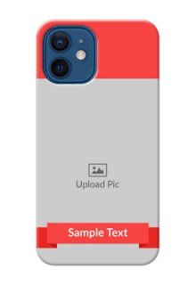 iPhone 12 Personalised mobile covers: Simple Red Color Design