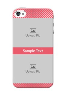 iPhone 4 Custom Mobile Case with White Dotted Design