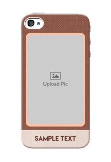 iPhone 4 Phone Covers: Simple Pic Upload Design