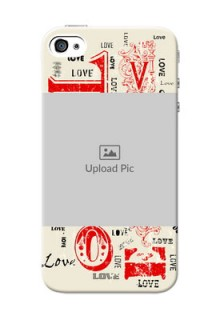 iPhone 4 mobile cases online: Trendy Love Design Case