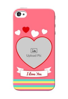 iPhone 4 Personalised mobile covers: Love Doodle Design