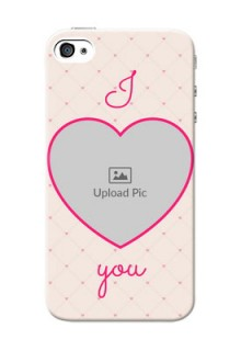 iPhone 4 Personalized Mobile Covers: Heart Shape Design
