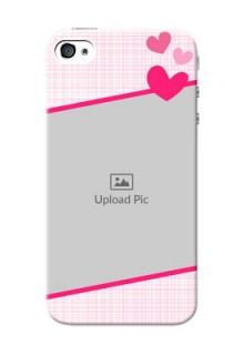 iPhone 4 Personalised Phone Cases: Love Shape Heart Design