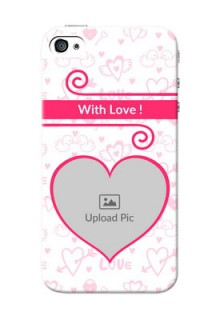 iPhone 4 Personalized Phone Cases: Heart Shape Love Design