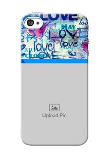 iPhone 4 Mobile Covers Online: Colorful Love Design
