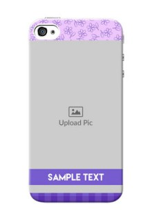 iPhone 4 Mobile Cases: Purple Floral Design