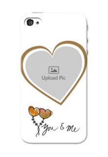 iPhone 4 customized phone cases: You & Me Design