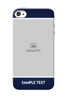 iPhone 4 Mobile Cases: Simple Royal Blue Design