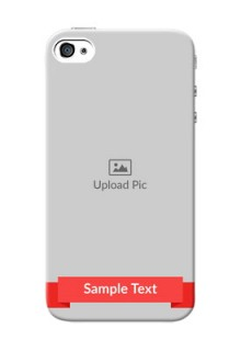 iPhone 4 Personalised mobile covers: Simple Red Color Design