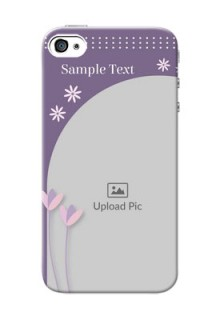 iPhone 4 Phone covers for girls: lavender flowers design
