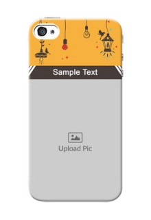 iPhone 4 custom back covers with Family Picture and Icons