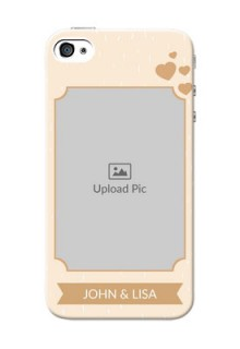 iPhone 4 mobile phone cases with confetti love design