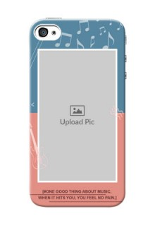 iPhone 4 Phone Back Covers with Color Musical Note Design