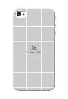 iPhone 4 personalised phone covers with white box pattern