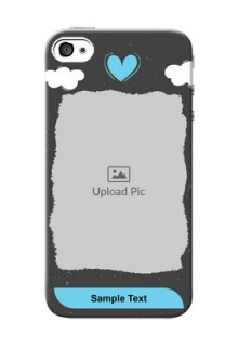 iPhone 4 Mobile Back Covers: splashes with love doodles Design
