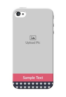 iPhone 4s Custom Mobile Case with Love Symbols Design