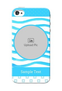 iPhone 4s phone back covers: Simple Blue Case Design