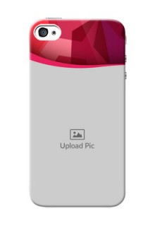 iPhone 4s custom mobile back covers: Red Abstract Design