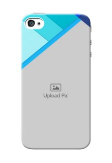 iPhone 4s Phone Cases Online: Blue Abstract Cover Design