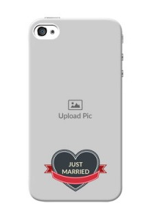 iPhone 4s mobile back covers online: Just Married Couple Design