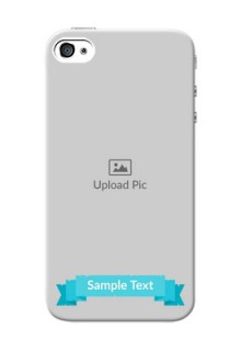 iPhone 4s Personalized Mobile Covers: Simple Blue Color Design