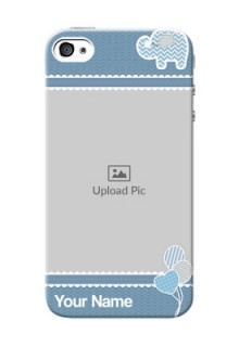 iPhone 4s Custom Phone Covers with Kids Pattern Design